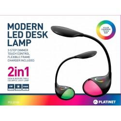 Lampe de bureau design avec socle RGB